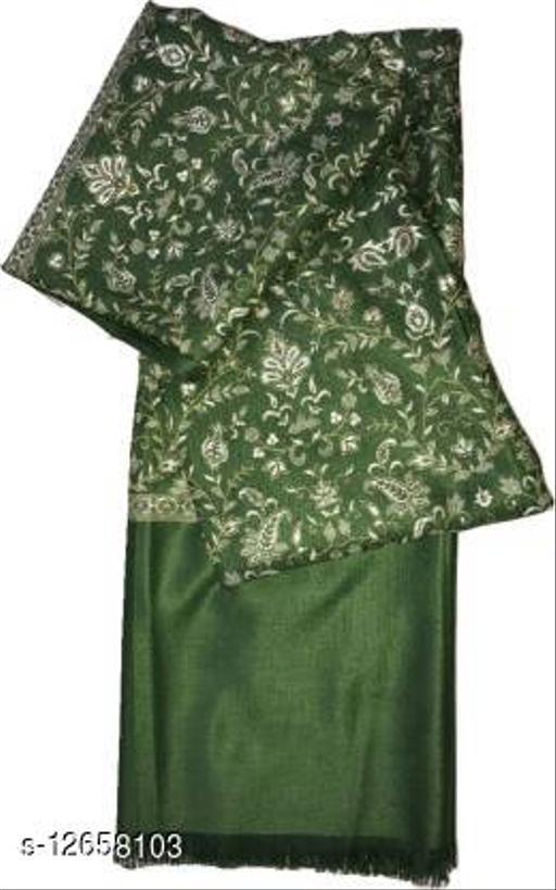 Royal Wool Blend Floral Women Shawl