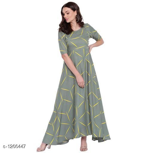 Kurtis & Kurtas Casual Rayon Printed Kurti  *Fabric* Rayon  *Sleeves* Sleeves Are Included  *Size* S - 36 in, M - 38 in , L - 40 in ,XL - 42 in, XXL - 44 in, XXL - 46 in ,XXXL - 48 in , 4XL - 50 in , 5XL - 52 in , 6XL - 54 in  *Type* Stitched  *Length* Up To 48 in  *Description* It Has 1 Piece Of  Kurti  *Work* Printed  *Sizes Available* M, L, XL, XXL, XXXL   Catalog Rating: ★4.4 (16) Supplier Rating: ★4.2 (601) SKU: VM00040 Shipping charges: Rs1 (Non-refundable) Pkt. Weight Range: 200  Catalog Name: Eva Casual Rayon Printed Kurtis Vol 1 - alisha_fashion Code: 096-1266447--218