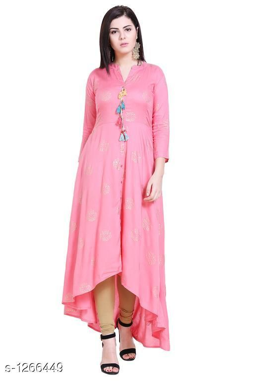 Kurtis & Kurtas Casual Rayon Printed Kurti  *Fabric* Rayon  *Sleeves* Sleeves Are Included  *Size* S - 36 in, M - 38 in , L - 40 in ,XL - 42 in, XXL - 44 in, XXL - 46 in ,XXXL - 48 in  *Type* Stitched  *Length* Up To 48 in  *Description* It Has 1 Piece Of  Kurti  *Work* Printed  *Sizes Available* M, L, XL, XXL, XXXL   Catalog Rating: ★4.4 (16) Supplier Rating: ★4.2 (601) SKU: VM00042 Shipping charges: Rs1 (Non-refundable) Pkt. Weight Range: 200  Catalog Name: Eva Casual Rayon Printed Kurtis Vol 1 - alisha_fashion Code: 096-1266449--218