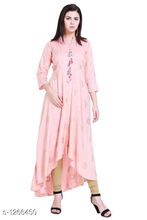 Kurtis & Kurtas Casual Rayon Printed Kurti  *Fabric* Rayon  *Sleeves* Sleeves Are Included  *Size* S - 36 in, M - 38 in , L - 40 in ,XL - 42 in, XXL - 44 in, XXL - 46 in ,XXXL - 48 in  *Type* Stitched  *Length* Up To 48 in  *Description* It Has 1 Piece Of  Kurti  *Work* Printed  *Sizes Available* S, M, L, XL, XXL, XXXL, 4XL   Catalog Rating: ★4.4 (16) Supplier Rating: ★4.2 (601) SKU: VM00043 Shipping charges: Rs1 (Non-refundable) Pkt. Weight Range: 200  Catalog Name: Eva Casual Rayon Printed Kurtis Vol 1 - alisha_fashion Code: 096-1266450--218