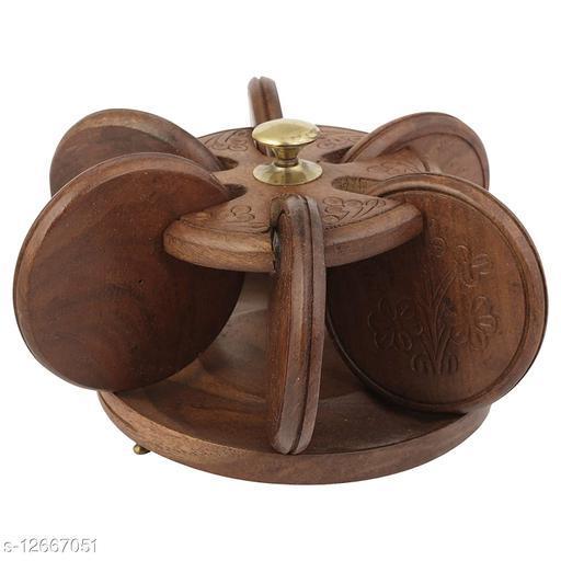 Sheesham Wood Unique Design Coasters Set - Export Quality