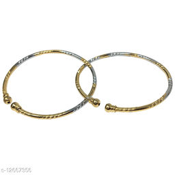 Jewellery latest design Silver and golden adjustable bracelet Combo of two for girls and womens
