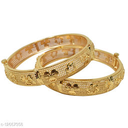 Jewellery Gold Plated Bangles 2.6 Size for Women and Girls