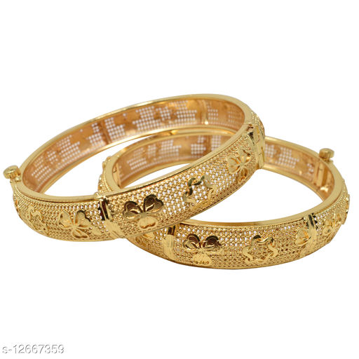 Jewellery Gold Plated Bangles 2.8 Size for Women and Girls