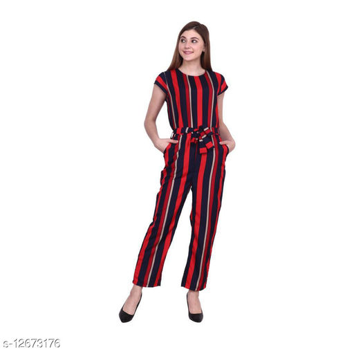 Fine American crepe jumpsuit