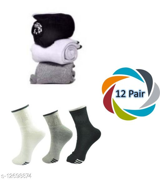 Ankle Comfortable Sport Socks (Pack of 12)