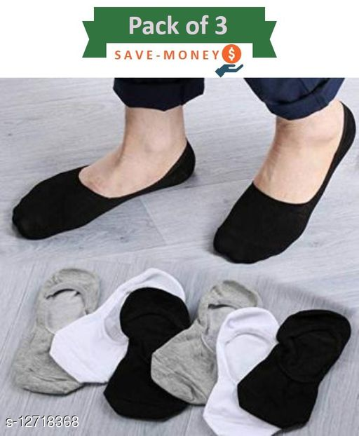 Fuku Unique Loafer Premium Quality Socks Mix Style (Pack of 3)