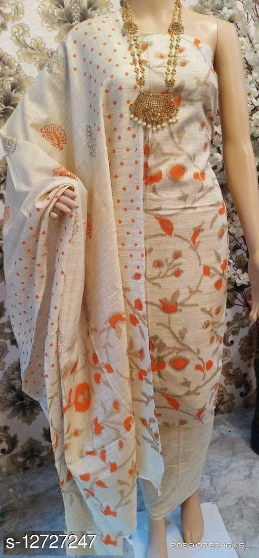 Attractive Khadi Cotton Women's Suits & Dress Materials