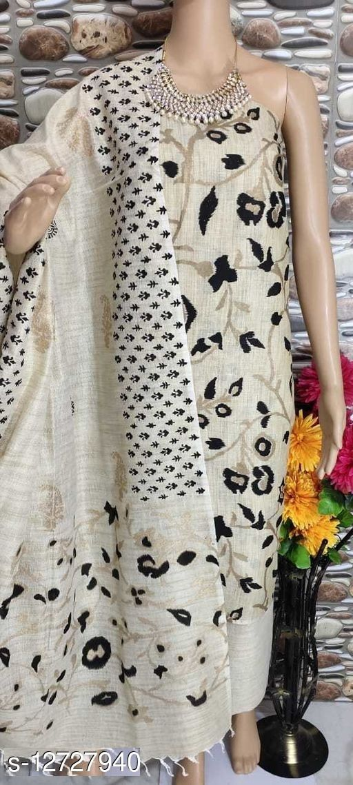 Trendy Khadi Cotton Women Suits & Dress Material
