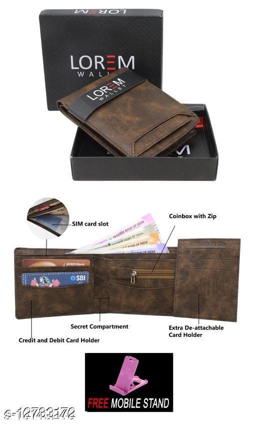 Trendy Men's Multicolor Faux Leather/Leatherette Wallet