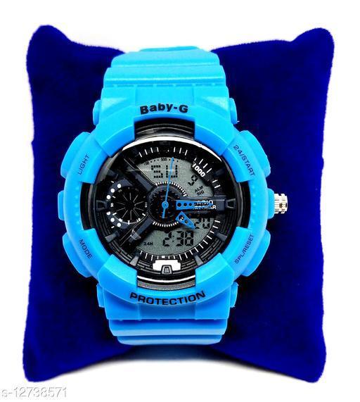 Baby G Shock Blue & Black Resin Strap Watch