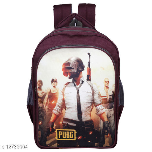 SMS BAG HOUSE Polyester PUBG Waterproof School Bag 7 TO 10  classes