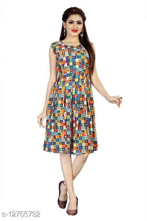 Women Fit and Flare Emoji Printed Dress