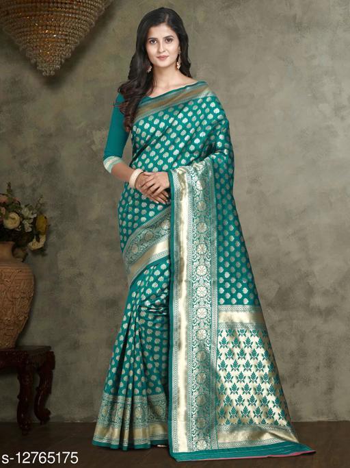 AIKSS Zari Woven Buta Work Banarasi Silk Saree