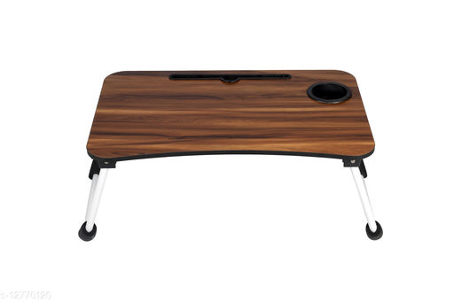 TDW Smart Multi-Purpose Laptop Table with Dock Stand/Study Table/Bed Table/Foldable and Portable/Ergonomic & Rounded Edges/Non-Slip Legs/Engineered Wood