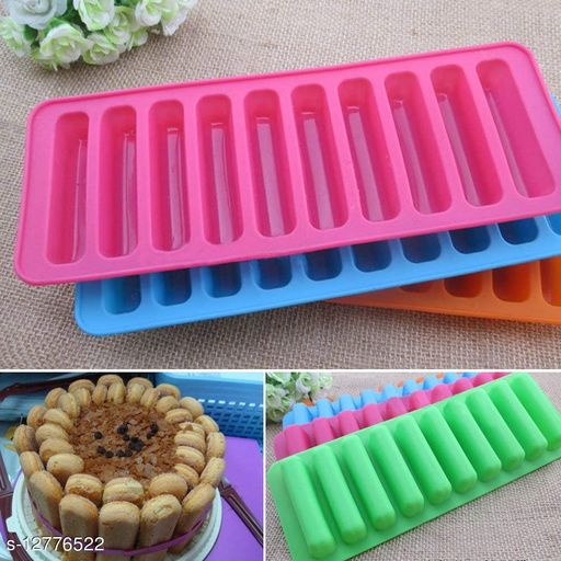 Mold 10 Section Flexible Silicone Whiskey Ice Ball Maker Kitchen Bar Party Drinks-Multi Color