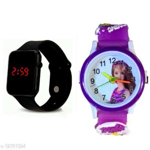 fantastic m2 and barbie watch black purple barbie