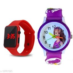 fantastic m2 and barbie watch red purple barbie