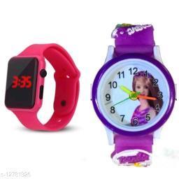 fantastic m2 and barbie watch pink purple barbie