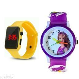 fantastic m2 and barbie watch yellow purple barbie