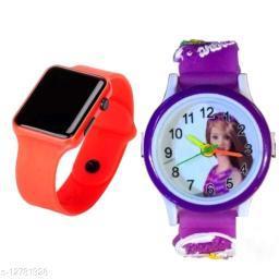 fantastic m2 and barbie watch orange purple barbie