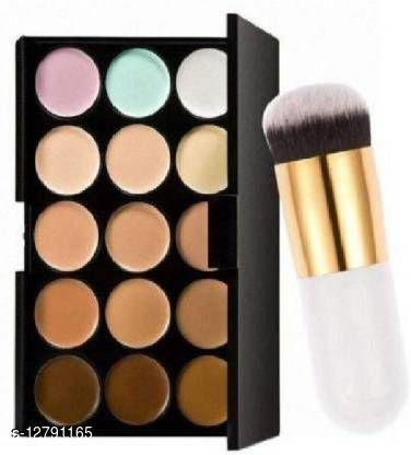 NNBB Famous 15 Color Contour & Concealer with Professional Brush Contour Kit (2 Items in the set) (2 Items in the set)