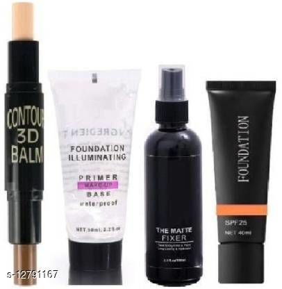 NNBB Makeup Primer & Fixer & Foundation With Contour 3D Balm (2 Items in the set) (4 Items in the set)