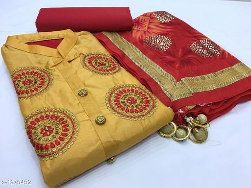 Pretty Cotton Salwar Suit& Dress Material