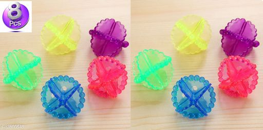Eco-Friendly Laundry Washing Ball, Wash Without Detergent (8 pcs, Multi Color)