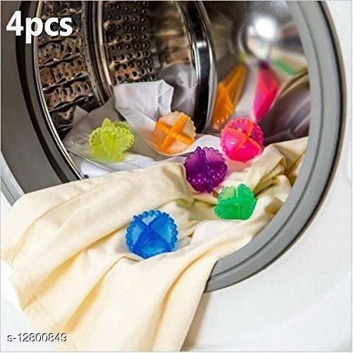 Eco-Friendly Laundry Washing Ball, Wash Without Detergent (4pcs, Multi Color)