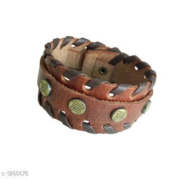 Handcrafted Tribal Leather Wrist Band