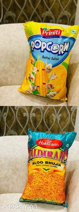 HK Collection Latest Designs Knitting Baby Pillows (Set of 2 Pieces)