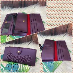 Trendy Women's Purple PU Wallet