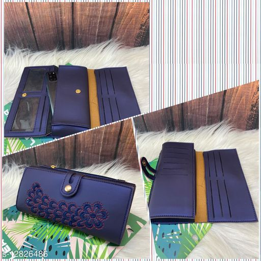 Beautiful Women's Blue PU Wallet