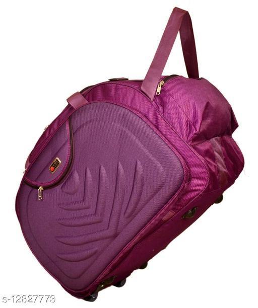 Stylish Men's Purple Polyester Duffel Bags