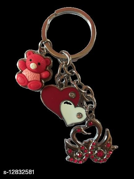 Duck Heart Key Chain Red Multi-Purpose key chain for car,bike,cycle and home keys