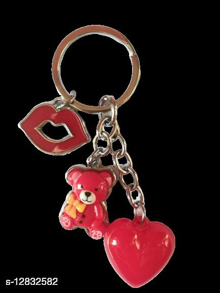 Key Chain Red MultiPurpose keychain for car,bike,cycle and home keys