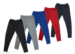Cotton ankle length Plain Jeggings Pack of 5