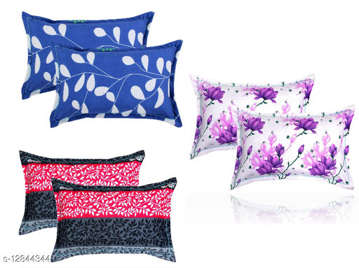 BSB HOME 3D Printed 6 Piece Cotton Pillow Covers Only (20X30 Inches, Multicolour)