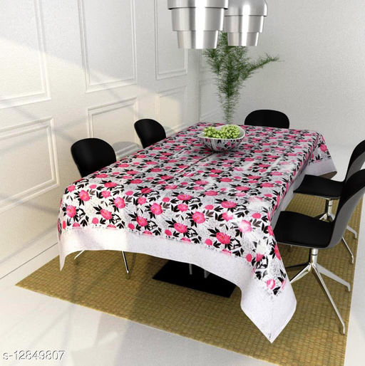 Vivid Home dinning table cover for 4 seater plastic ( 40 x 60 Inches )