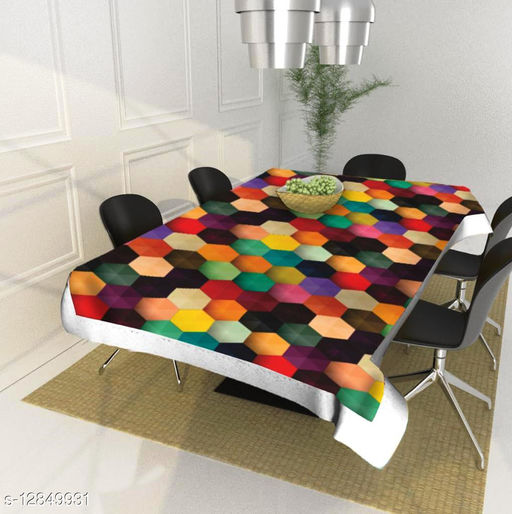 Vivid Home dinning table cover plastic 4 seater ( 40 x 60 Inches )
