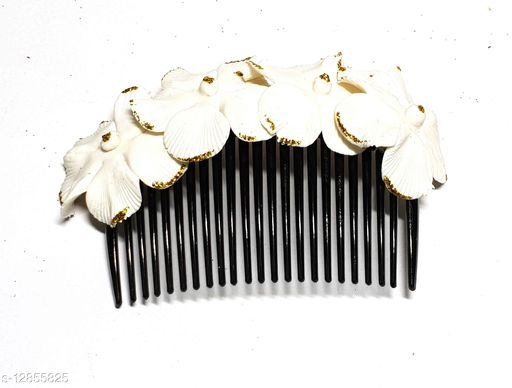 Unique Indian Crafts Handmade Artificial flowers jewellery Hair comb pin