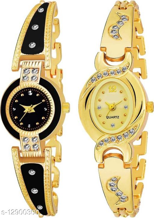 MMD Perfect collegeion look Rouden Dial Diamond Chain watch for Women Analog Watch - For Women