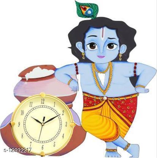 Unique Wall Clock Analog 33 cm X 40 cm Wall Clock  (Multicolor)