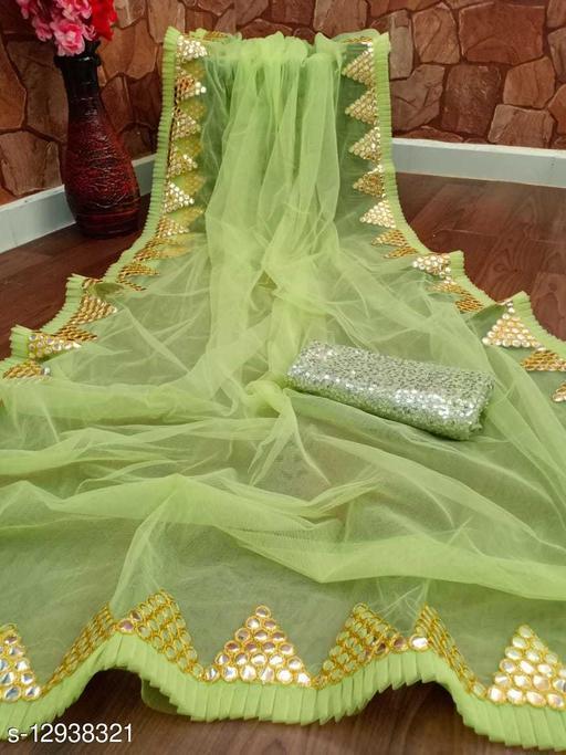 Mono Nailon Premium Net Partywear Saree , Festivel Special
