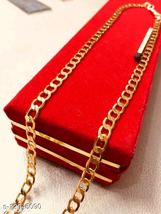 Artificial Classic Gold-plated Brass Chain and  bracelet  For Men