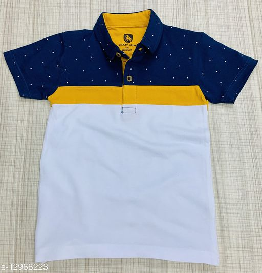 Boys fancy collar T-shirt