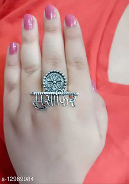 Beautiful Oxidised Free Size Rings