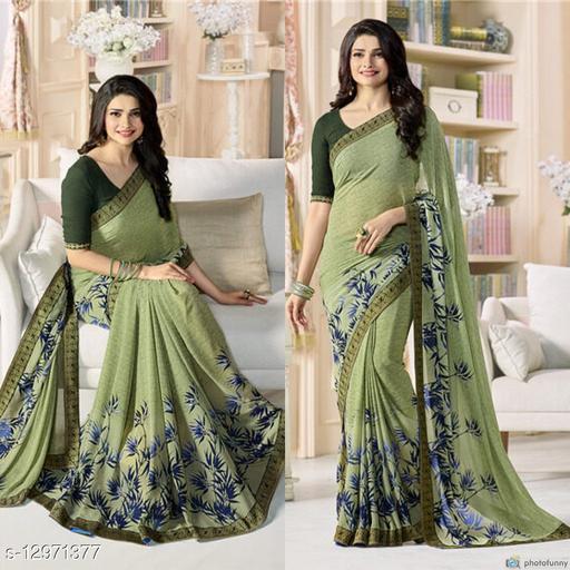 Daily wear fancy Georgette saree