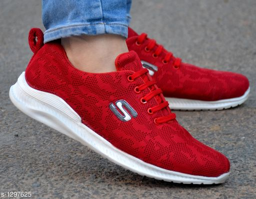 Stylish Men's Red Sports Shoes